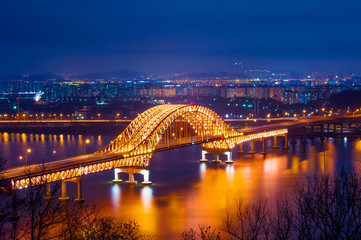 Banghwa bridge at night,Korea