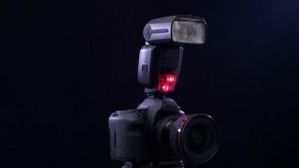 Photo shoot DSLR camera. 4K UHD video.