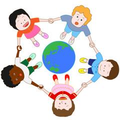 世界平和を願う子供たち