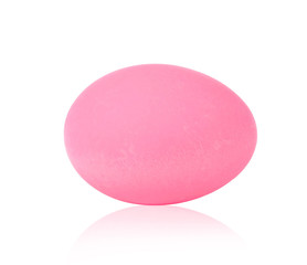 Pink Century Egg isolate background