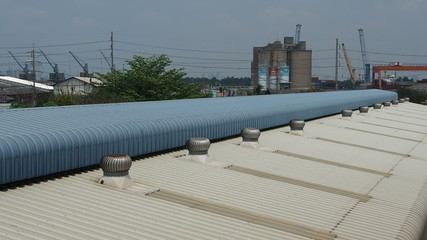 Ventilator spin on roof.