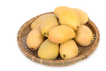 fresh mango in the basket