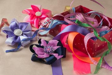 Box with ribbons and bows