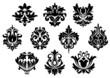 Black floral and arabesque elements
