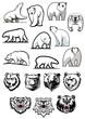White polar bear cartoon characters - 80231291