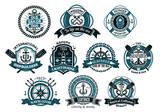 Creative seafarers or nautical logos and banners
