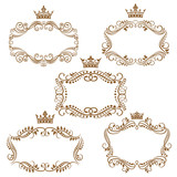 Royal vintage brown borders and frames