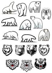 White polar bear cartoon characters