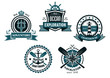 Nautical and marine emblems or icons - 80231437