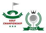 Golfing championship emblems or badges