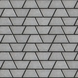 Gray Paving Slabs in the Form Trapezoids. poster