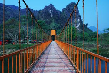 Bridge in Vang Vieng, Laos