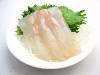 Sashimi of sea bream