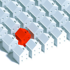 3d row of houses background