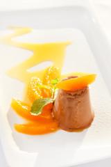 chocolate ice cream with orange