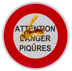 panneau attention danger piqûres