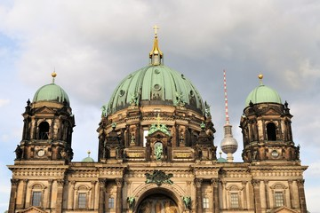 Berlin Cathedral with TV Tower, Germany