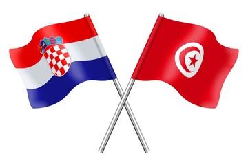 Flags: Croatia and Tunisia