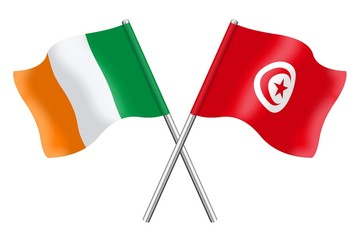Flags: Ireland and Tunisia