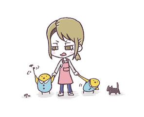 保育士とヒヨコ園児