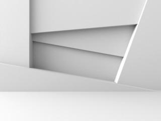 Abstract Architecture Design White Geometric Futuristic Backgrou