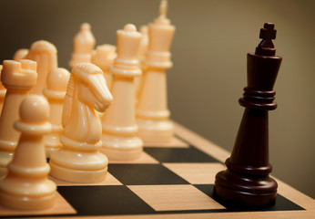 Chess king surrendering