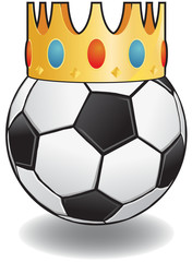 King of Football vector image