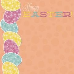 Retro Easter egg card in vector format.