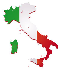 Italy flag map vector image