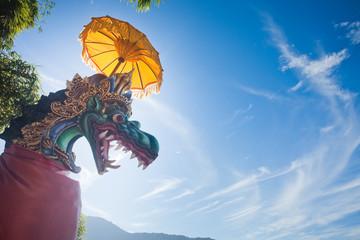 unusual background of mystical dragon