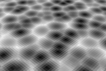 abstract pixel blob fluid background in gray