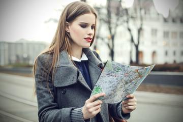 Tourist in a big city