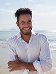 Sympathischer Brasiianer an der Copacabana