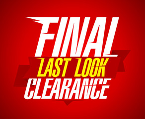 Final clearance design, last look.