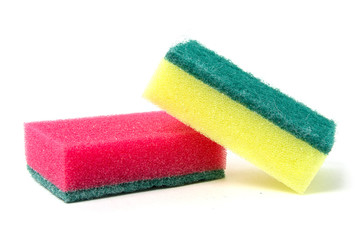 Sponges on a white background