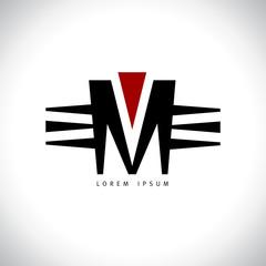 Letter M logo.
