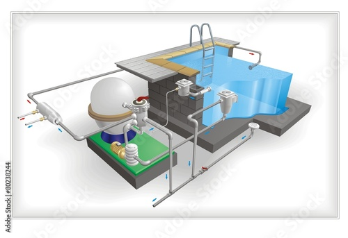 Pool Architecture vector - 80238244