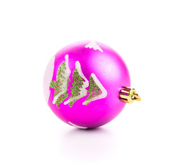 Christmas ball with tree