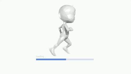 3D PROGRESS BAR - RUNNING LITTLE MAN