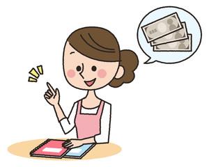 主婦 家計簿 お金