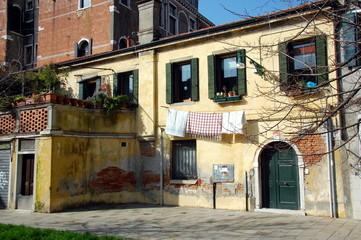 Typical venetian building. Venice, Italy