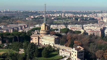 Administration building and radio masts of  Vatican Radio