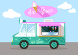 Fototapety Vector ice cream flat illustration
