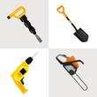 Vector construction tools icon set