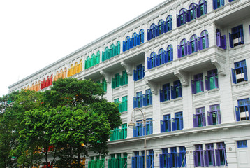 Colourful Window of The Old Hill Street Police Station
