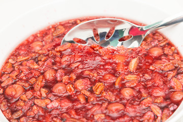 Gelatin with Fruit and Nuts