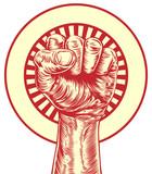 Vintage propaganda fist poster