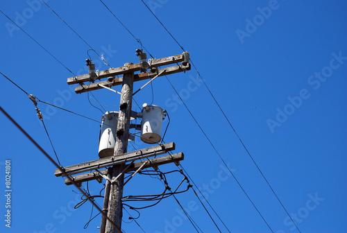 Aluminium San Francisco Wooden Electrical Post