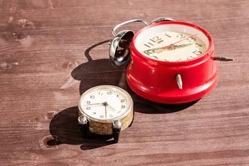 Old vintage alarm clock