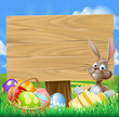 Easter Bunny Egg Hunt Sign